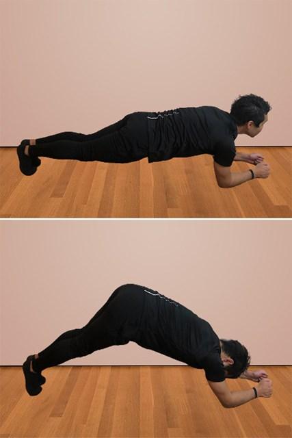 体幹を鍛える自宅トレーニング ヒップリフトブリッジ(提供:ケアくる)