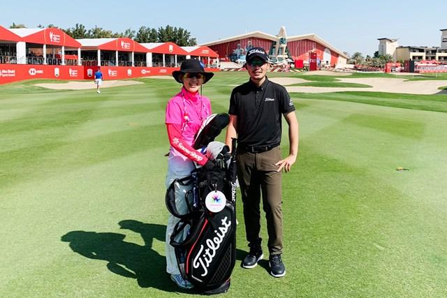 2021年 アブダビHSBCゴルフ選手権 事前 川村昌弘 頼もしいキャディが復帰。2021年も頑張ります!