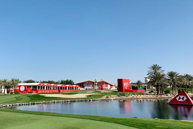 2021年 アブダビHSBCゴルフ選手権 事前 アブダビGC 川村昌弘 名物のクラブハウスがそびえるアブダビGC