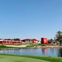 名物のクラブハウスがそびえるアブダビGC 2021年 アブダビHSBCゴルフ選手権 事前 アブダビGC 川村昌弘