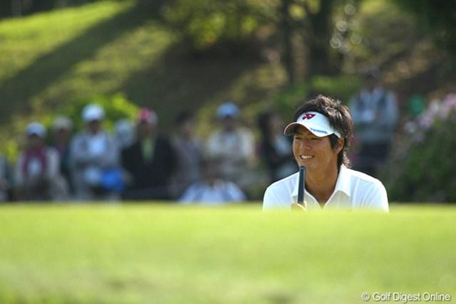しかし、グリーンに上がった遼君はなぜか笑顔。忙中閑あり