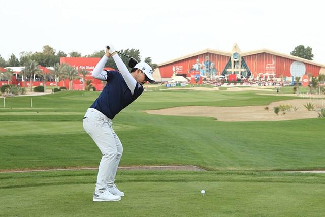 2021年 アブダビHSBCゴルフ選手権 2日目 川村昌弘 川村昌弘は通算3アンダーで予選2日間を終えた(Andrew Redington/Getty Images)