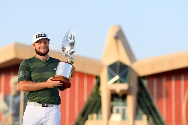 2021年 アブダビHSBCゴルフ選手権 4日目 ティレル・ハットン ティレル・ハットンが逆転で勝利をつかんだ(Ross Kinnaird/Getty Images)