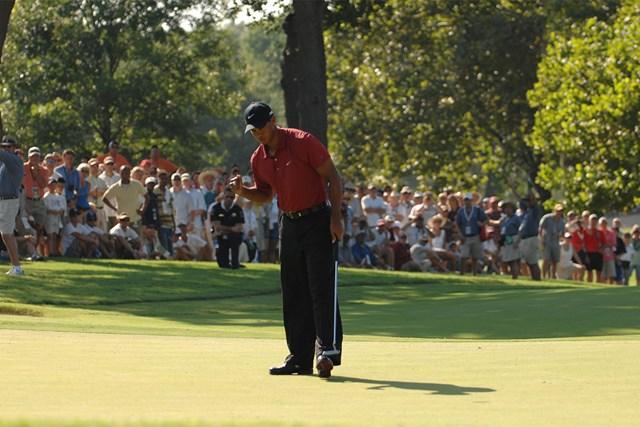 2007年 全米プロゴルフ選手権 タイガー・ウッズ 2007年にサザンヒルズCCで行われた「全米プロ」を制したタイガー・ウッズ (Montana Pritchard/The PGA of America via Getty Images)