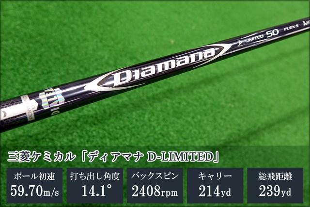 新製品レポート番外編 ディアマナDリミ 三菱ケミカル特有のハリ感や弾き感が備わっているシャフト