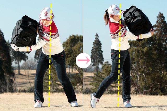 7番で100ydを打つ練習のメリット 斉藤愛璃 斉藤が考えるスイングの理想的な動き