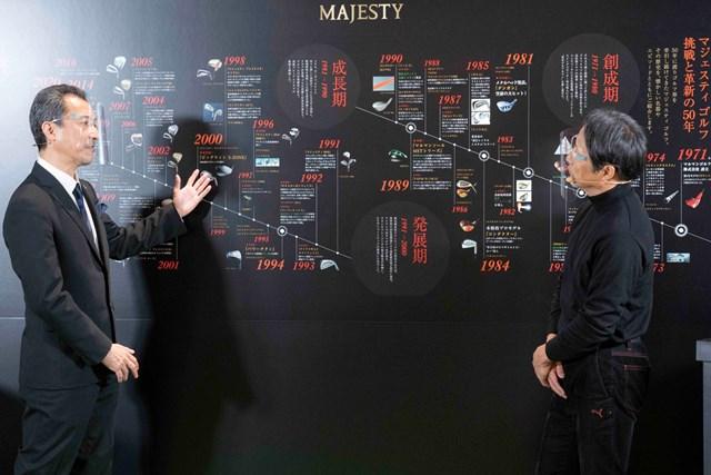 マジェスティ 50周年の節目に新「ロイヤル」を発表 同社50年間の歴史を振り返るシーンも(※提供:マジェスティゴルフ)