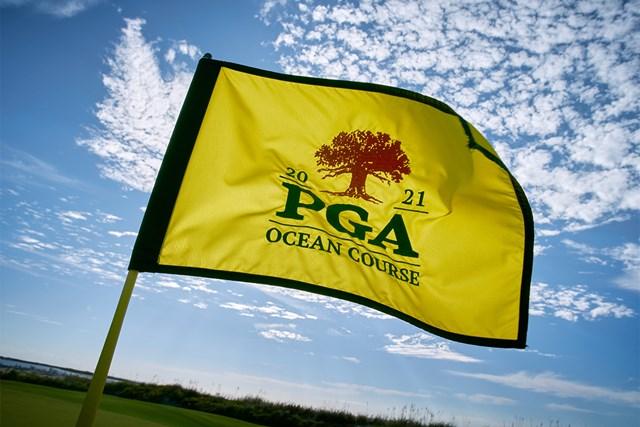 2021年 全米プロゴルフ選手権 2021年「全米プロゴルフ選手権」フラッグ(Gary Kellner/The PGA of America via Getty Images)