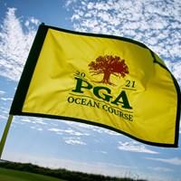 2021年「全米プロゴルフ選手権」フラッグ(Gary Kellner/The PGA of America via Getty Images) 2021年 全米プロゴルフ選手権