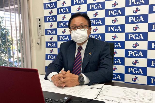 2021年 日本プロゴルフ協会・倉本昌弘会長 リモート会見を行った日本プロゴルフ協会の倉本昌弘会長(提供:日本プロゴルフ協会)