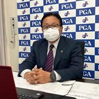 リモート会見を行った日本プロゴルフ協会の倉本昌弘会長(提供:日本プロゴルフ協会) 2021年 日本プロゴルフ協会・倉本昌弘会長