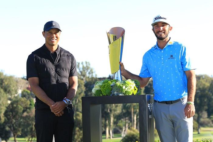 マックス・ホマ(右)がタイガー・ウッズの財団がホストする一戦を制した 2021年 ジェネシス招待 最終日 タイガー・ウッズ マックス・ホマ