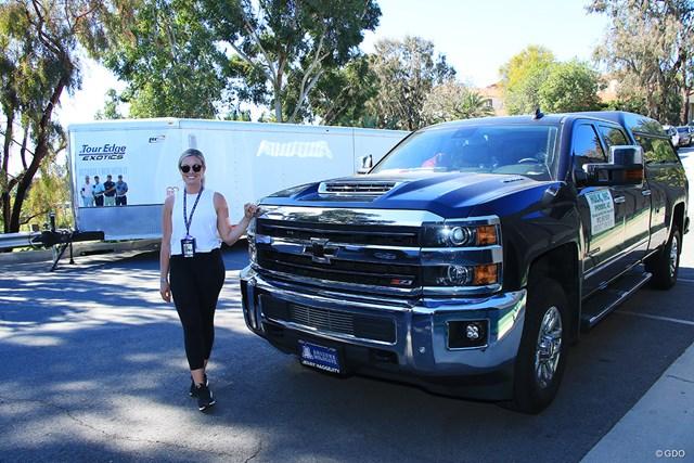 2021年 ジェネシス招待 4日目 ハルク 3年間ですでに走行距離は12万マイル!以前と同じモデルのトラックを愛用している