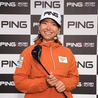 ピンの新製品発表会に出席した渋野日向子(提供:ピンゴルフジャパン) 2021年 渋野日向子