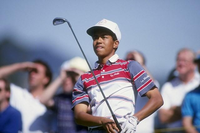 1992年 タイガー・ウッズ 当時16歳のタイガー・ウッズ(Gary Newkirk/Getty Images)
