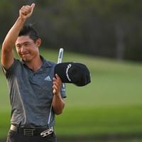 """終わってみれば3打差圧勝。モリカワは""""タイガーばり""""の逃げ切りを見せた(Ben Jared/PGA TOUR via Getty Images) 2021年 WGCワークデイ選手権 4日目 コリン・モリカワ"""