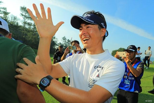 2019年 日本プロゴルフ選手権大会 最終日 石川遼 石川遼の左手薬指に輝く結婚指輪※写真は2019年「日本プロゴルフ選手権」