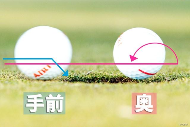 3パットを減らす3つの距離感ドリル 斉藤愛璃 練習グリーンにカップがない場合は、想定カップに対して強弱をつけて打つ