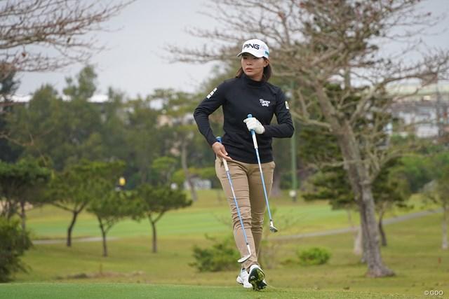 2021年 ダイキンオーキッドレディスゴルフトーナメント 事前 渋野日向子 開幕2日前の2日には入念にコースチェックを行った