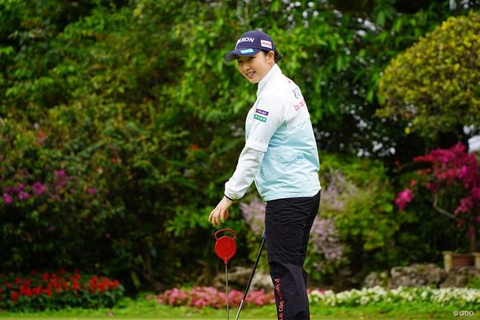 「賞金女王も目指したい」と気合いが入る小祝さくら 2021年 ダイキンオーキッドレディスゴルフトーナメント 事前 小祝さくら