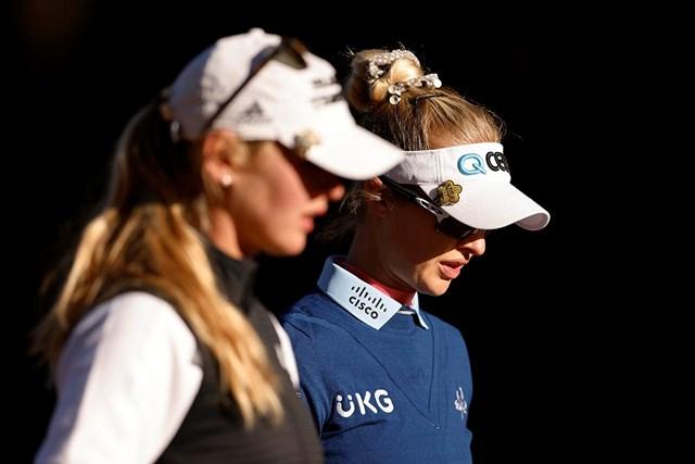 2021年 ドライブオン選手権 事前 ジェシカ・コルダ ネリー・コルダ 今季開幕から姉妹で連勝中のジェシカ・コルダ(左)とネリー・コルダ。同組でそろって好発進した (Michael Reaves/Getty Images)