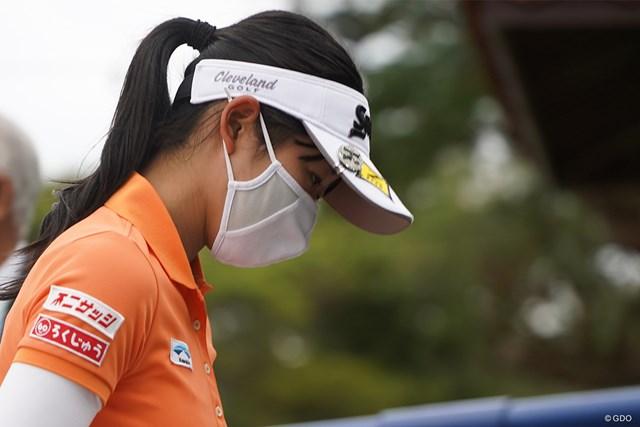 2021年 ダイキンオーキッドレディスゴルフトーナメント 3日目 吉本ここね 洗える抗菌フェイスガードでした