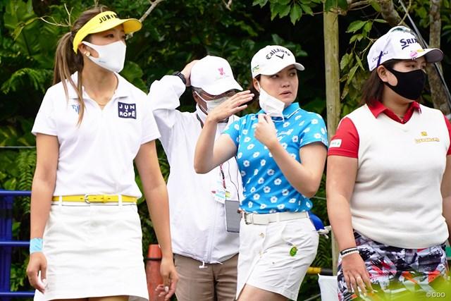 2021年 ダイキンオーキッドレディスゴルフトーナメント 3日目 エイミー・コガ マスクもいろいろ