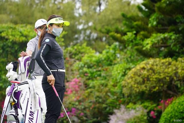 2021年 ダイキンオーキッドレディスゴルフトーナメント 3日目 有村智恵 このマスクは…?