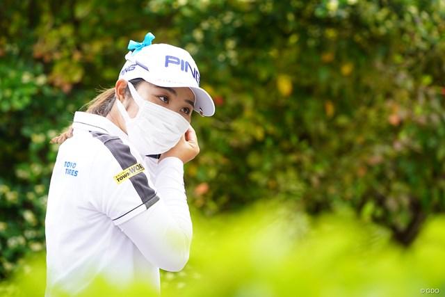 2021年 ダイキンオーキッドレディスゴルフトーナメント 3日目 比嘉真美子 不織布マスクを着用するプロも多く見受けられました