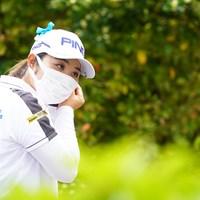 不織布マスクを着用するプロも多く見受けられました 2021年 ダイキンオーキッドレディスゴルフトーナメント 3日目 比嘉真美子
