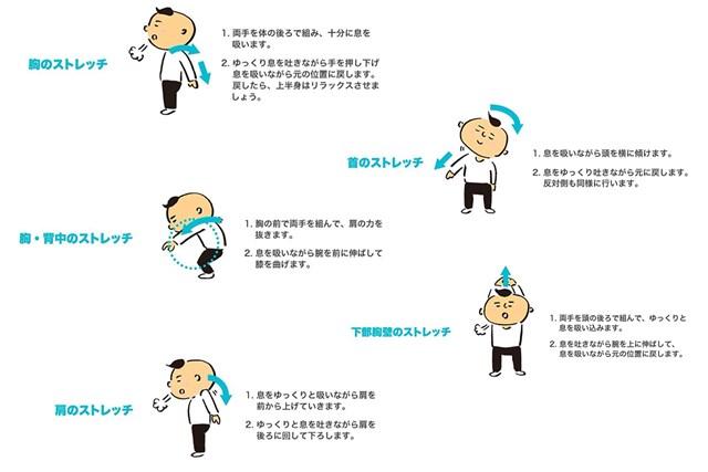 体操 呼吸筋体操(提供イラスト)