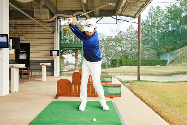青木翔プロレッスン5回目data6 ドリルを繰り返すことで、振り幅を大きくしても安定した球を打つことができる