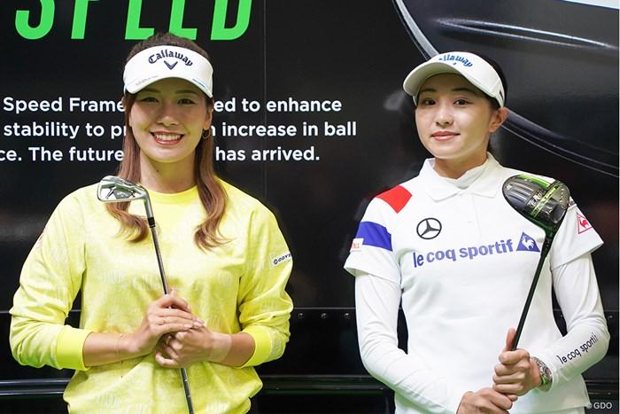 ともに1Wは新シリーズ「エピックSPEED」を投入した 2021年 ゴルフフェア 藤田光里 三浦桃香
