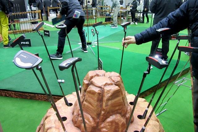 2021年 ジャパンゴルフフェア ピン「2021」パター ピンはブース内に広々とした最新パターの試打スペースを設置