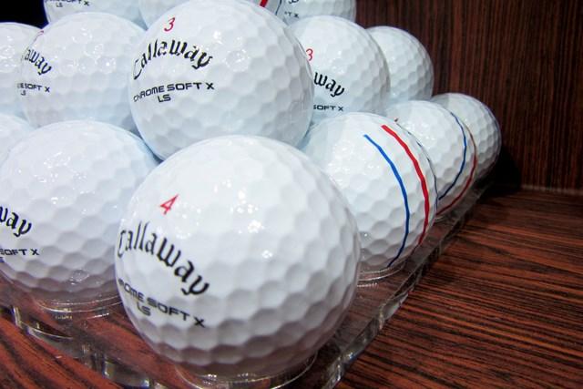 2021年 ジャパンゴルフフェア キャロウェイ「クロムソフト X LS ボール」 開幕日にリリースされたキャロウェイ「クロムソフト X LS ボール」も展示された