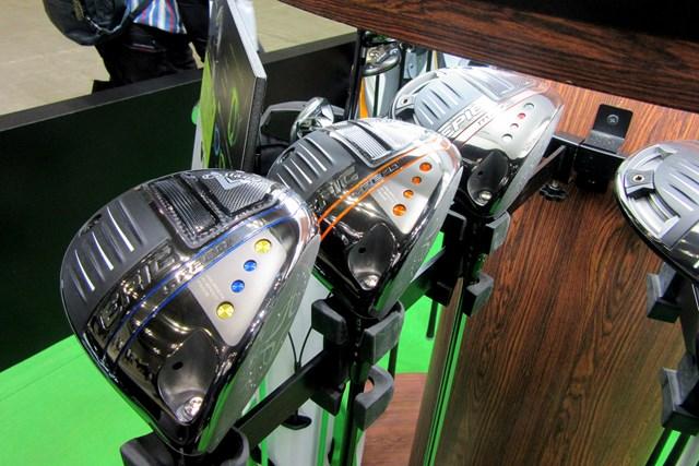 2021年 ジャパンゴルフフェア エピックシリーズのカラーカスタムモデル キャロウェイブースではリリース間もない「エピック」シリーズのカラーカスタムモデルを展示