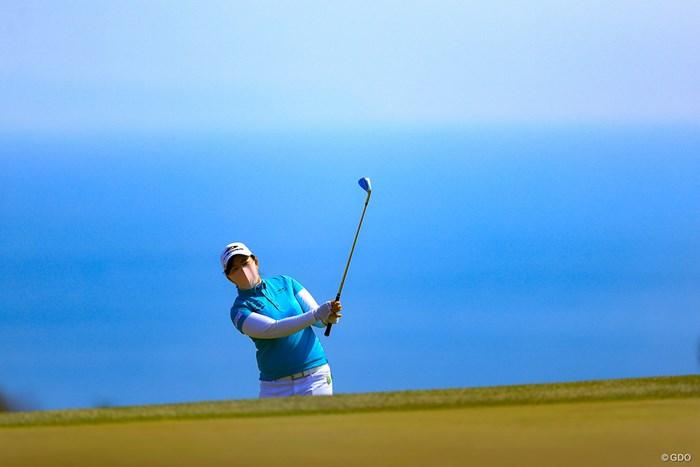 こんな写真が取れるのはゴルフだけ 2021年 明治安田生命レディス ヨコハマタイヤゴルフトーナメント 最終日 武尾咲希