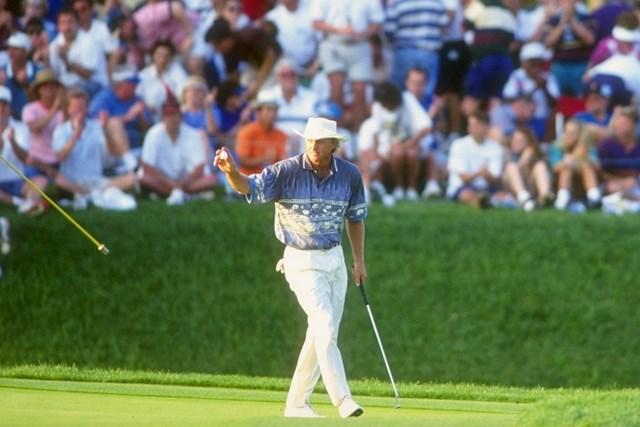 1994年 グレッグ・ノーマン 1994年「プレーヤーズ選手権」で記録的な優勝を遂げたグレッグ・ノーマン(Gary Newkirk/Allsport)