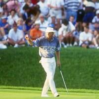 1994年「プレーヤーズ選手権」で記録的な優勝を遂げたグレッグ・ノーマン(Gary Newkirk/Allsport) 1994年 グレッグ・ノーマン