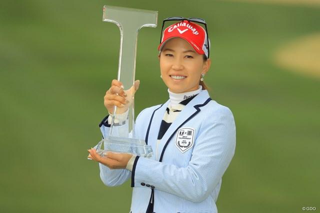 2019年 Tポイント×ENEOSゴルフトーナメント 最終日 上田桃子 前回2019年大会は上田桃子が2季ぶりに優勝した