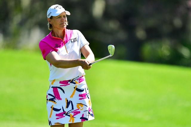 2021年 ゲインブリッジ選手権  2日目 アニカ・ソレンスタム 50歳を迎えたアニカ・ソレンスタム。2月には13年ぶりにツアー大会へ出場した(Julio Aguilar/Getty Images)