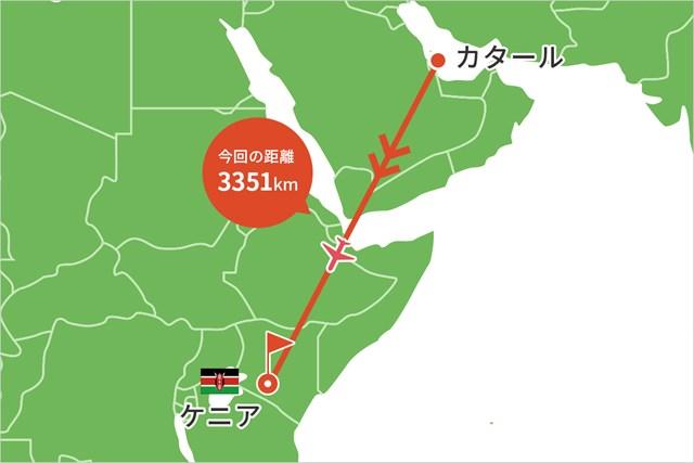 2021年 ケニアオープン 事前 川村昌弘マップ カタールからは直行便でアフリカのケニアへ