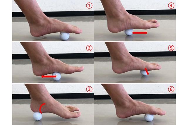 エクササイズ ボールをうまく活用して足裏の硬さをほぐす(提供:ケアくる)
