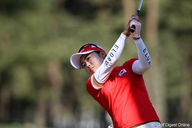 2010年 ワールドレディスチャンピオンシップサロンパスカップ 最終日 キム・ジヒ 韓国のアマチュア、キム・ジヒはローアマを獲得しました
