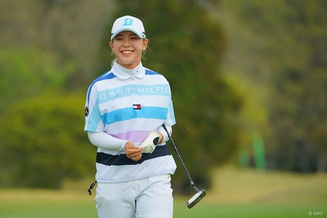2021年 Tポイント×ENEOSゴルフトーナメント 初日 吉田優利 本当にいつも素敵な笑顔です。初優勝が待ち遠しいなぁ。