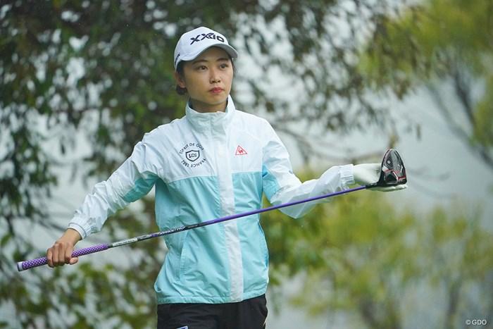安田祐香は暫定8位につけた 2021年 Tポイント×ENEOSゴルフトーナメント 2日目 安田祐香