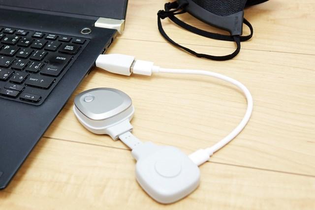 1万円の進化系マスクはゴルフ向き? 18Hプレーで徹底検証 USB端子なのでパソコンでも充電可能(充電時間/約3時間)