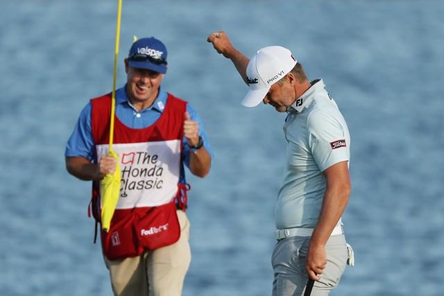 2021年 ザ・ホンダクラシック 最終日 マット・ジョーンズ 7年ぶりの優勝を決めたマット・ジョーンズ(Cliff Hawkins/Getty Images)