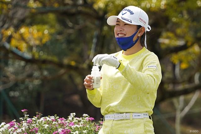 2021年 アクサレディスゴルフトーナメント in MIYAZAKI 事前 河本結 元気な姿でプロアマ戦に出た