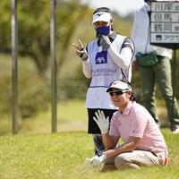 休憩中 2021年 アクサレディスゴルフトーナメント in MIYAZAKI 初日 川岸史果
